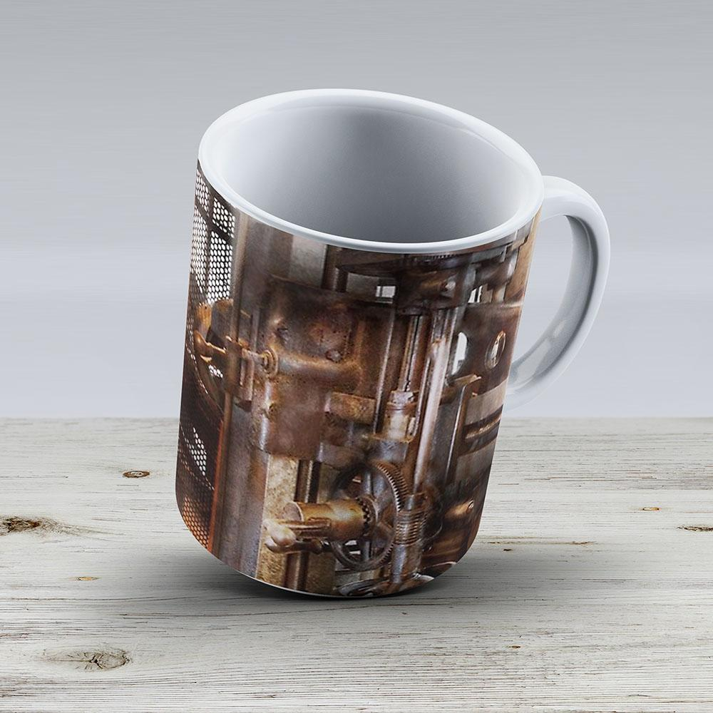 Machinist - Industrial Drill Press - Ceramic Coffee Mug - Gift Idea For Family And Friends