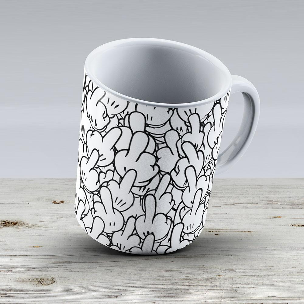 Middle Fingers Of Mickey Mouse - Ceramic Coffee Mug - Gift Idea For Family And Friends
