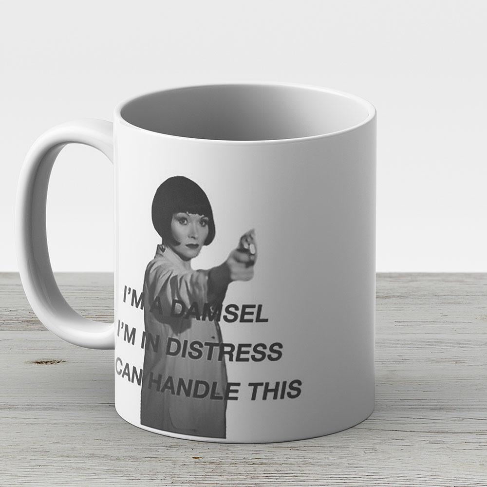 Miss Fisher Is In Distress She Can Handle It - Ceramic Coffee Mug - Gift Idea For Family And Friends
