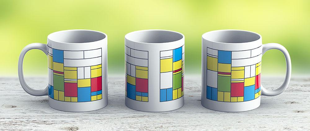 Mondrian Ca 1989 - The Simpsons - Ceramic Coffee Mug - Gift Idea For Family And Friends