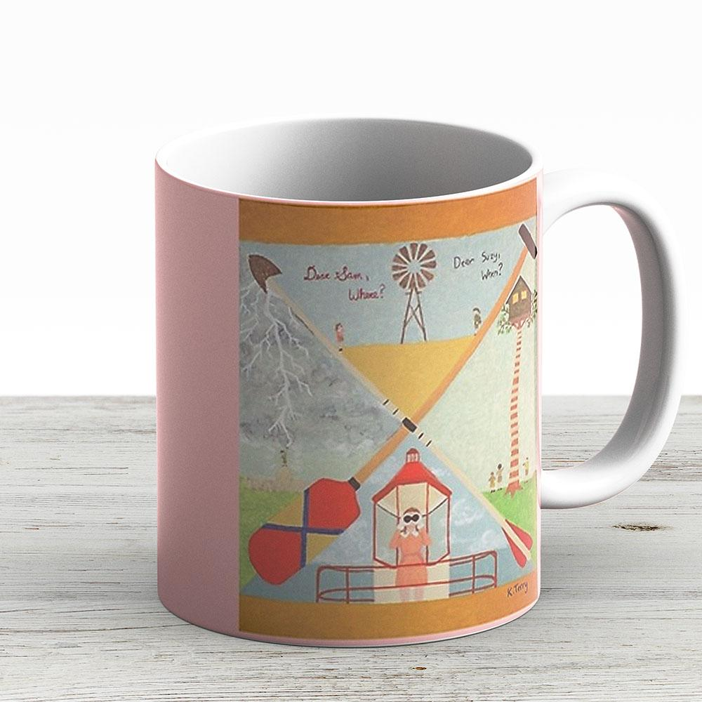Moonrise Kingdom - Wes Anderson Painting - Ceramic Coffee Mug - Gift Idea For Family And Friends