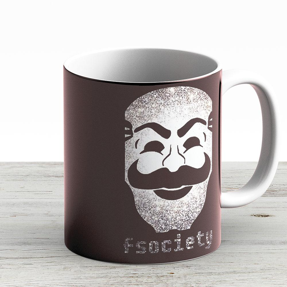 Mr Fsociety - Ceramic Coffee Mug - Gift Idea For Family And Friends