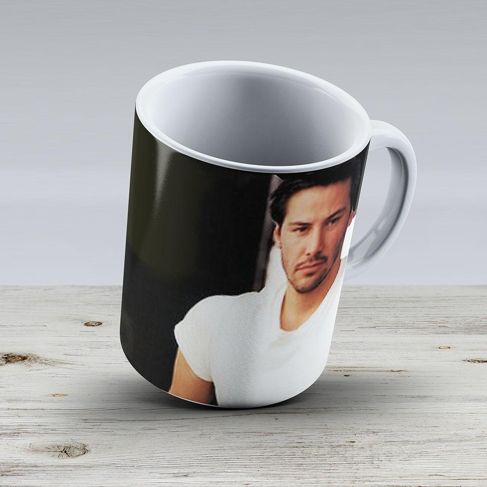 My Kind Of Man Keanu Reeves Biker On Candy Red And Black - Ceramic Coffee Mug - Gift Idea For Family And Friends