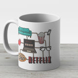 Netflix Kit - Ceramic Coffee Mug - Gift Idea For Family And Friends