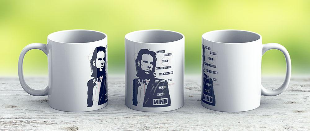 Nick Cave - Right Out Of Your Hand Lyrics - Ceramic Coffee Mug - Gift Idea For Family And Friends