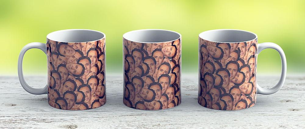 Nicolas Cage Texture For All Your Cage Needs - Ceramic Coffee Mug - Gift Idea For Family And Friends