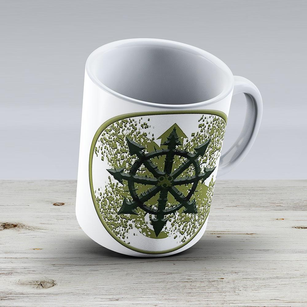 Nurgle Warhammer 40K Symbol - Ceramic Coffee Mug - Gift Idea For Family And Friends