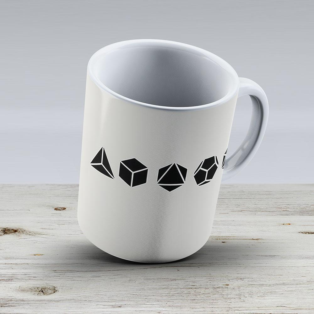 Platonic Solids - Building Blocks Of Life - Mathematics Geometry - Ceramic Coffee Mug - Gift Idea For Family And Friends