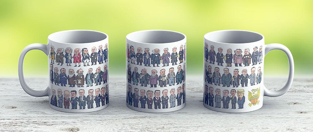 Presidents Of The United States - Ceramic Coffee Mug - Gift Idea For Family And Friends