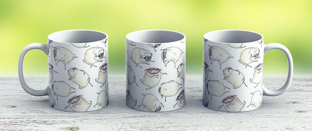 Pug Interpretive Dance - Ceramic Coffee Mug - Gift Idea For Family And Friends