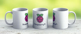 Raspberry Pi Logo - Ceramic Coffee Mug - Gift Idea For Family And Friends