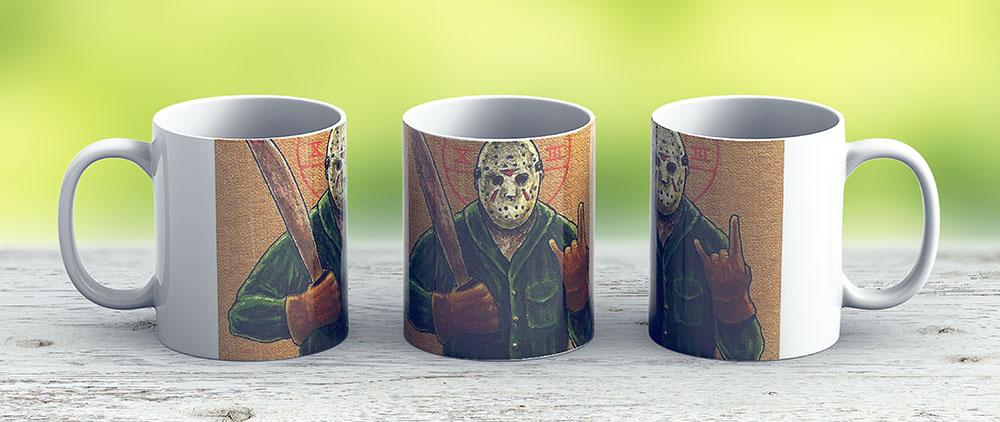 Religious Horror Icon-Jason Voorhees-Tgif-Friday The 13Th - Ceramic Coffee Mug - Gift Idea For Family And Friends