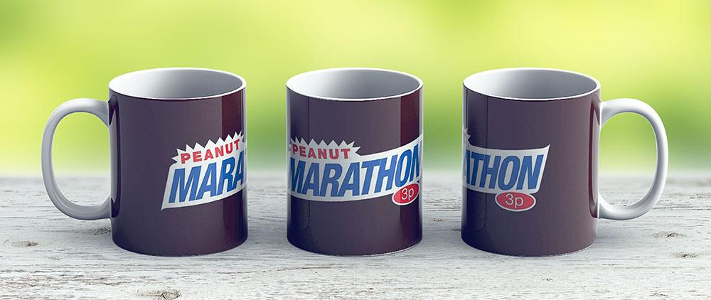Retro Marathon Not Snickers Kids Chocolate Bar Logo Only 3P - Ceramic Coffee Mug - Gift Idea For Family And Friends