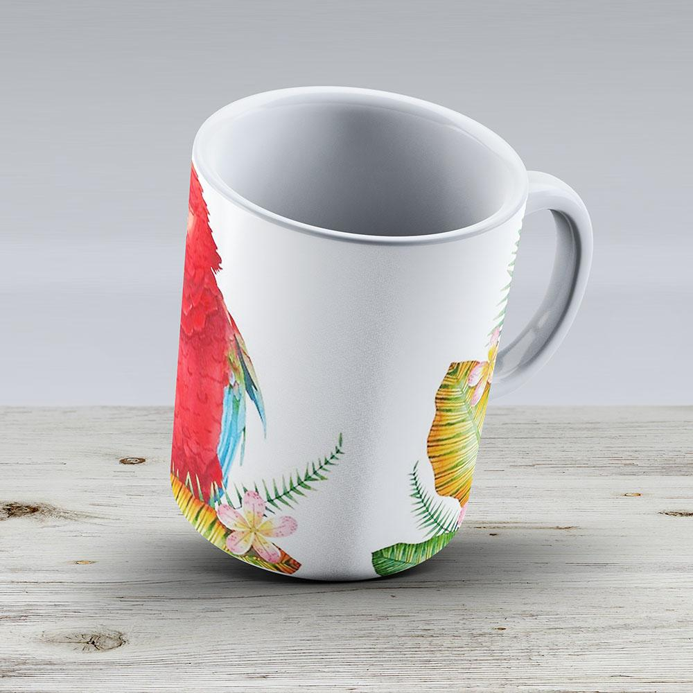 Scarlet Macaw - Ceramic Coffee Mug - Gift Idea For Family And Friends