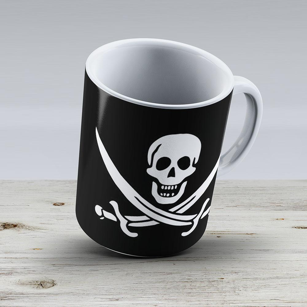 Serious Flags Jack Rackhams Jolly Roger - Ceramic Coffee Mug - Gift Idea For Family And Friends