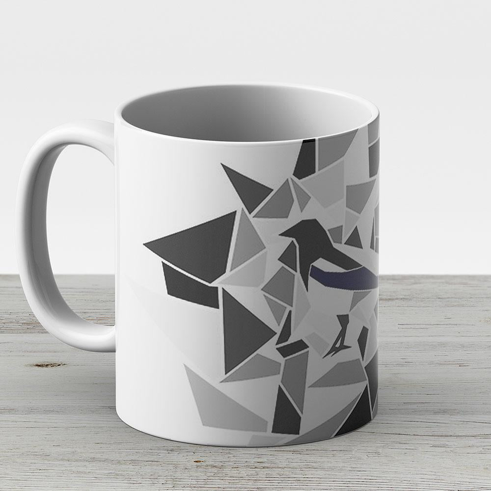 Shiny Magpie - Ceramic Coffee Mug - Gift Idea For Family And Friends