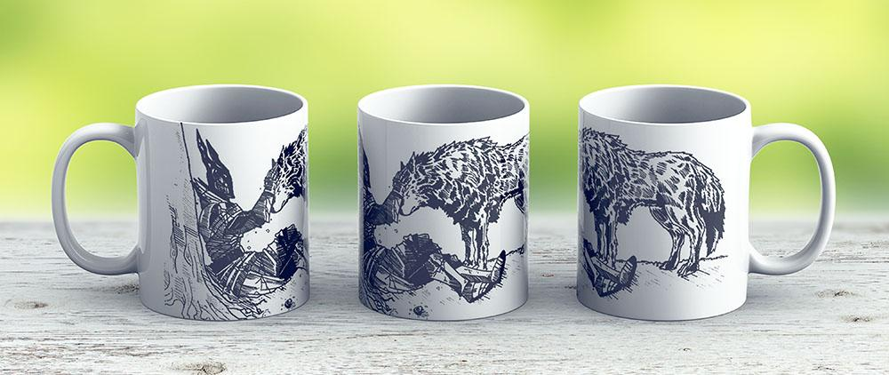 Sif The Wolf - Ceramic Coffee Mug - Gift Idea For Family And Friends