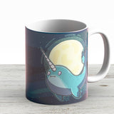 Space Narwhal - Ceramic Coffee Mug - Gift Idea For Family And Friends
