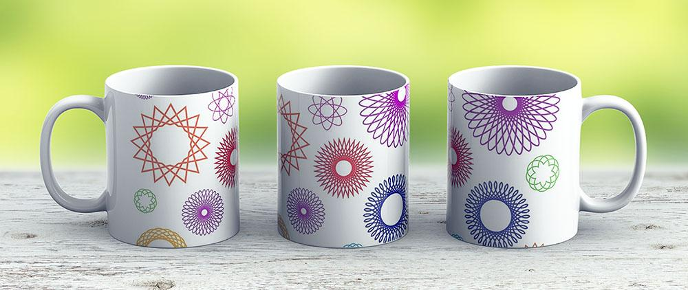 Spirograph Patterns - Ceramic Coffee Mug - Gift Idea For Family And Friends