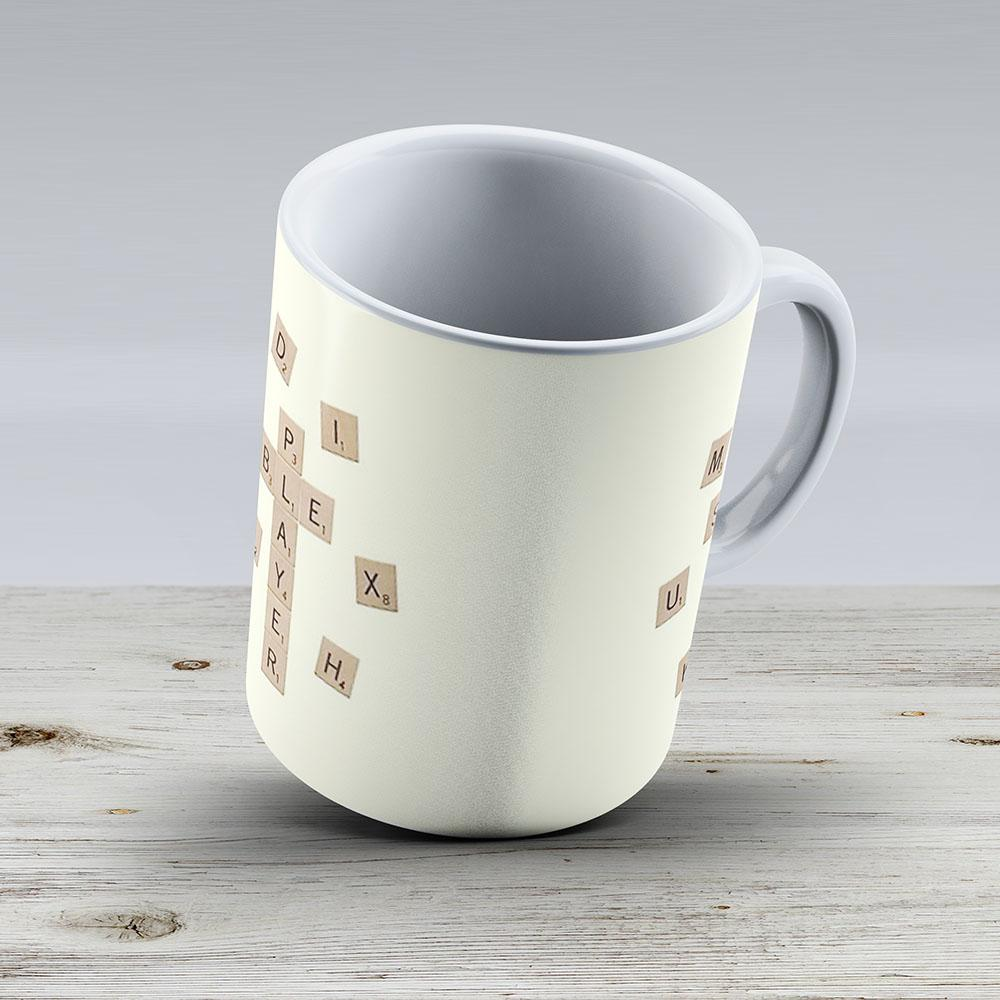 Star Scrabble Player - Ceramic Coffee Mug - Gift Idea For Family And Friends