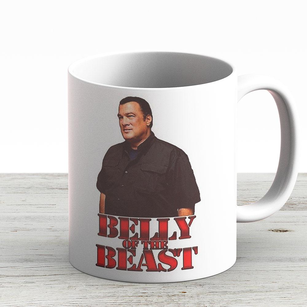 Steven Seagal - Belly Of The Beast - Ceramic Coffee Mug - Gift Idea For Family And Friends