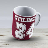 Stiles Stilinski Lacrosse Jersey - Back - Ceramic Coffee Mug - Gift Idea For Family And Friends