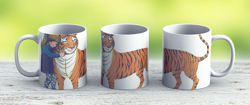 The Tiger Who Came To Tea - Ceramic Coffee Mug - Gift Idea For Family And Friends