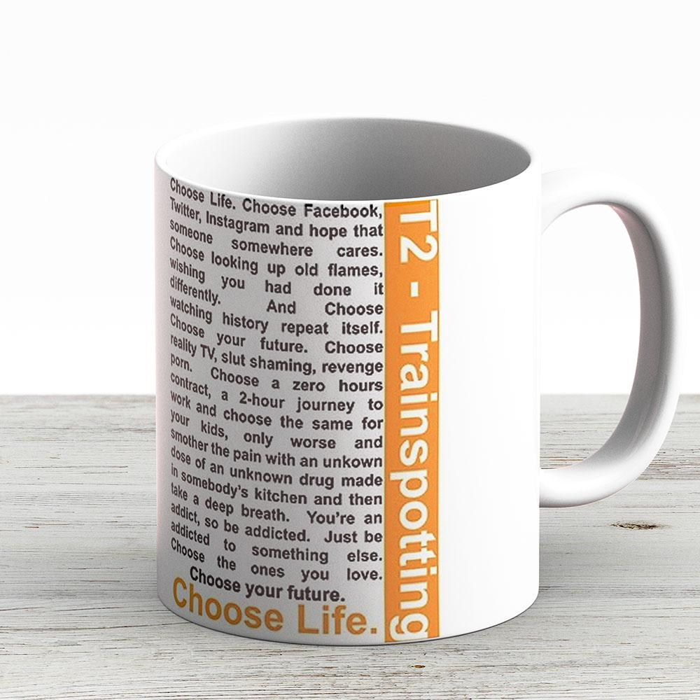 Trainspotting 2 - Choose Life - Ceramic Coffee Mug - Gift Idea For Family And Friends