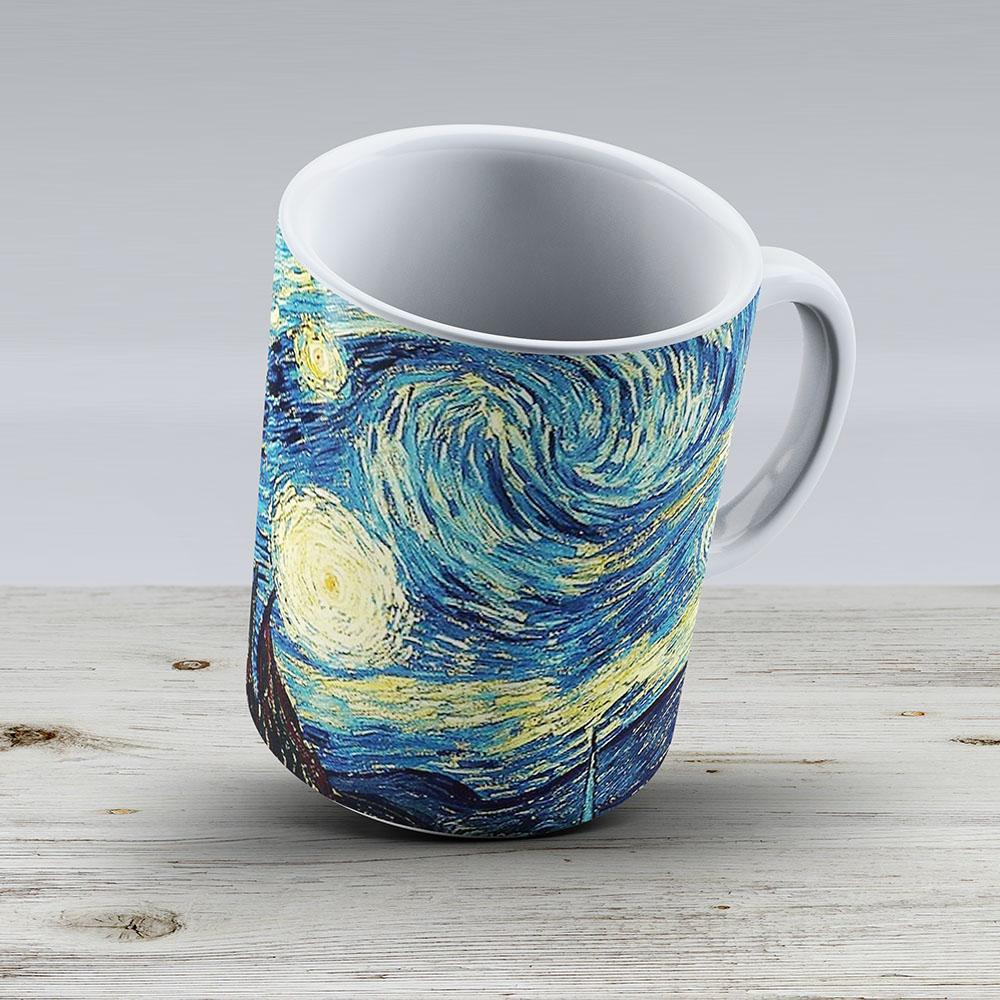 Vincent Van Gogh - Starry Night - Ceramic Coffee Mug - Gift Idea For Family And Friends