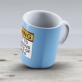Warning Subject To Spontaneous Outbursts Of Dad Jokes - Ceramic Coffee Mug - Gift Idea For Family And Friends