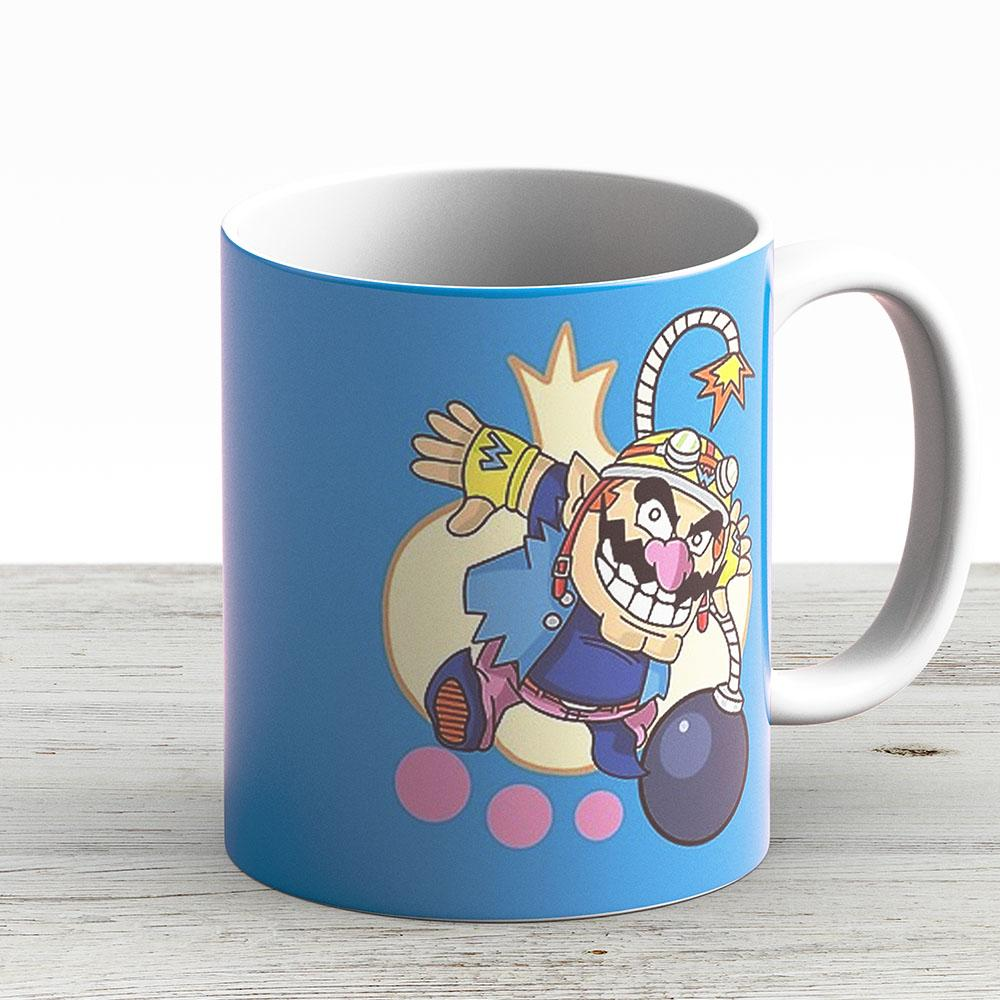 Warioware - Wario - Ceramic Coffee Mug - Gift Idea For Family And Friends