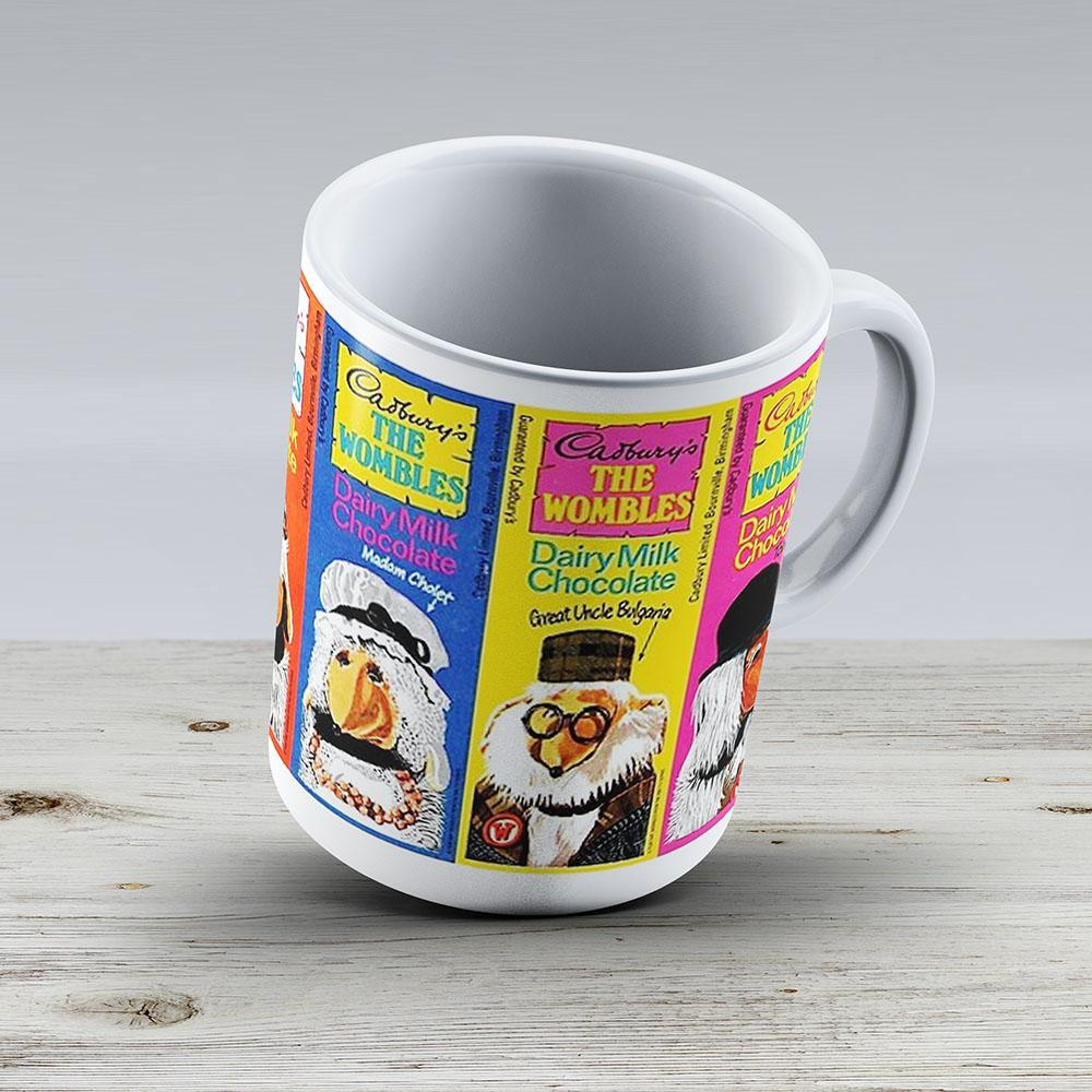 Wombles Retro Chocolate Bars - Ceramic Coffee Mug - Gift Idea For Family And Friends