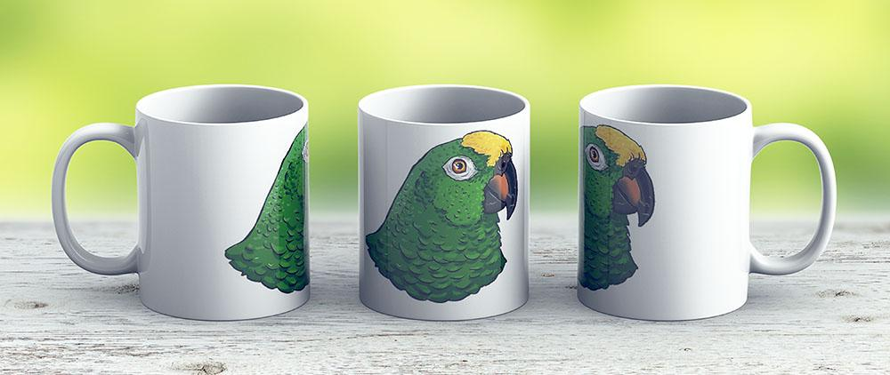 Yellow Crowned Amazon Parrot - Ceramic Coffee Mug - Gift Idea For Family And Friends