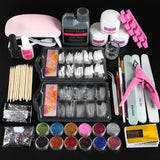 Professional Acrylic Nails Kit With Lamp For Manicure
