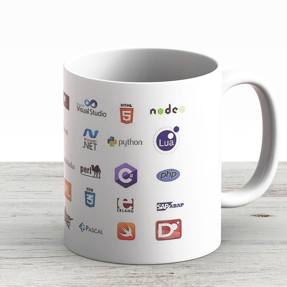 Programming Languages Set - Ceramic Coffee Mug - Gift Idea For Family And Friends