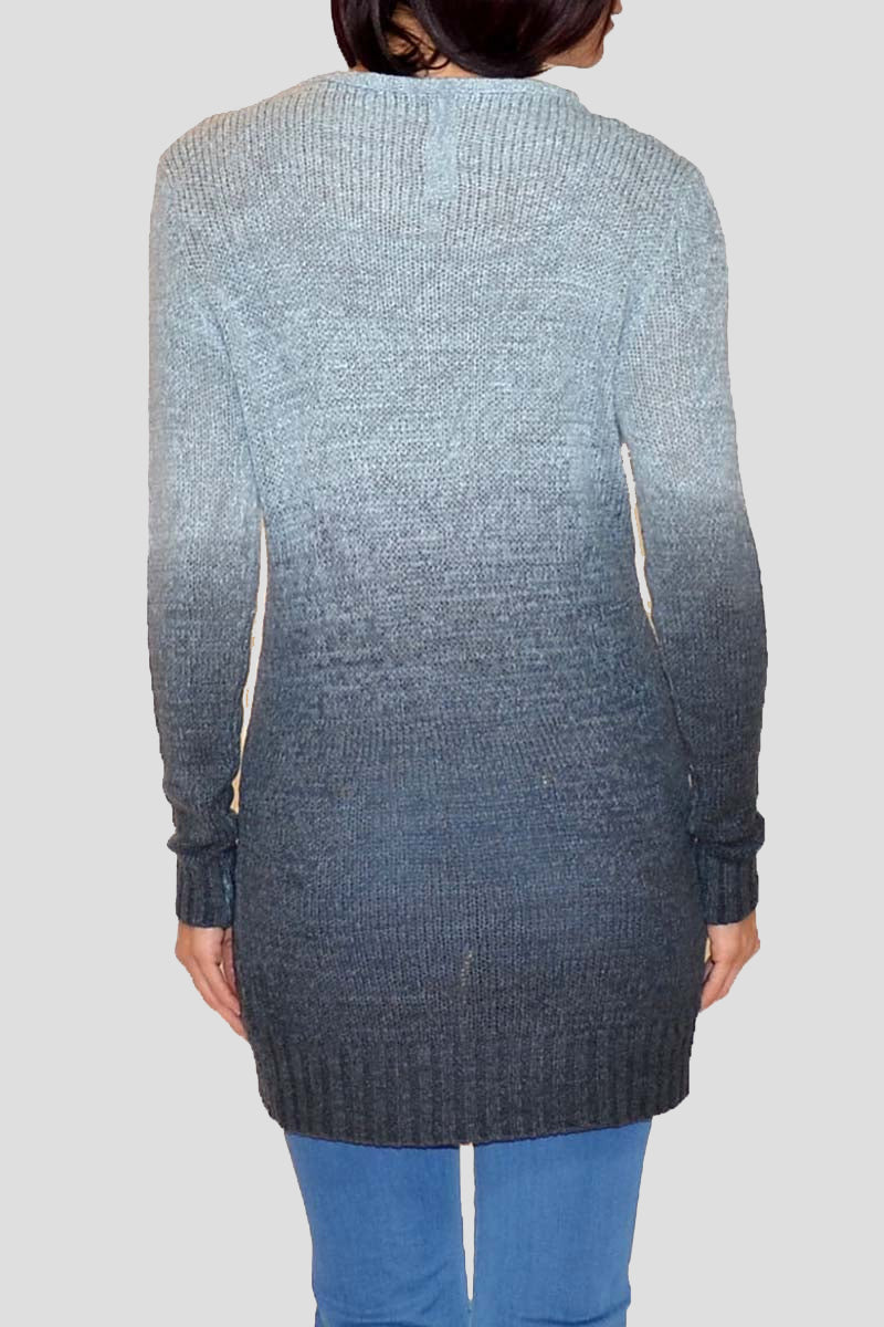 HW-101005 | Open Weave Dip Dyed Sweater