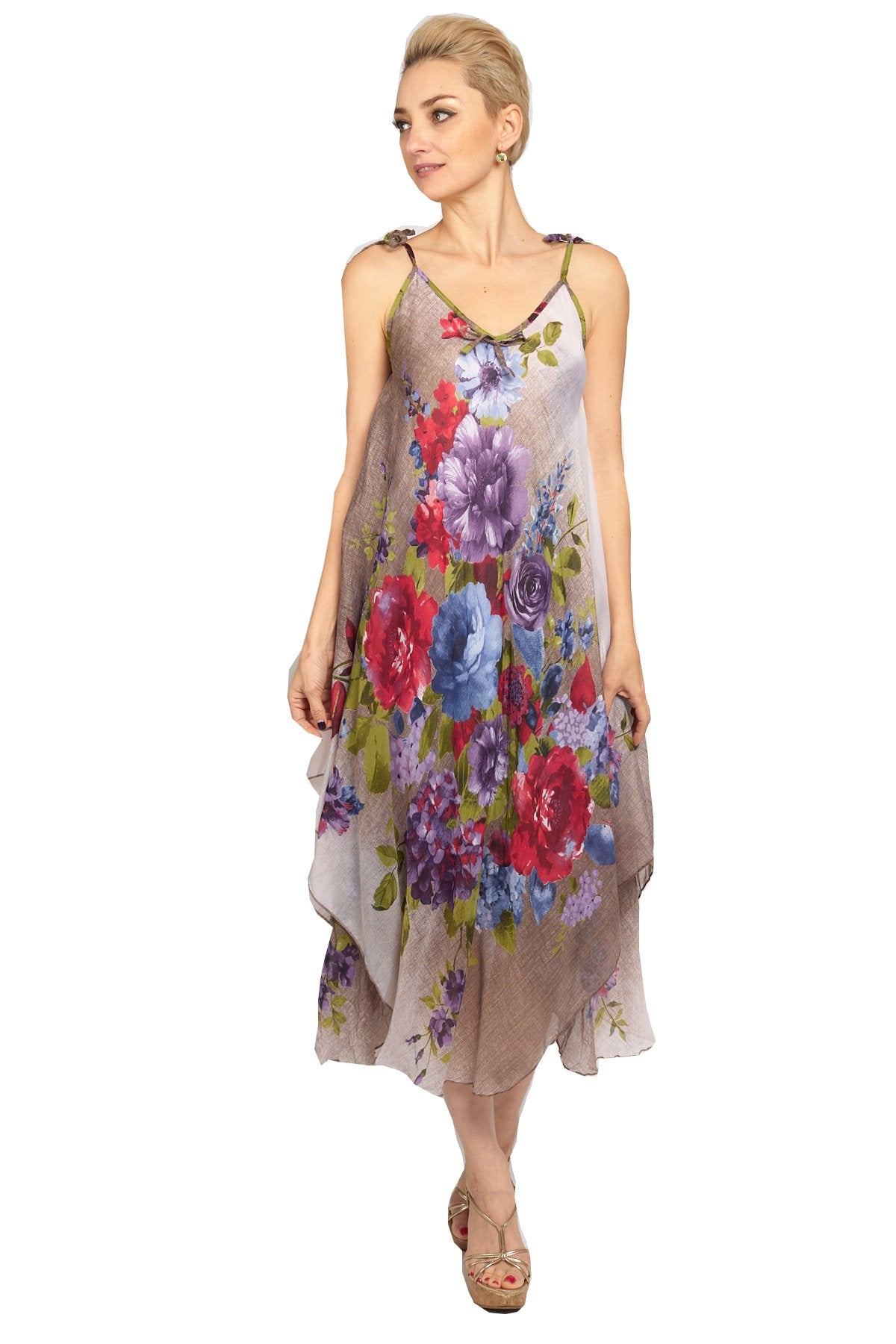 Women's Handkerchief Floral Dress