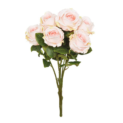 Open Rose Bouquet - Light Pink
