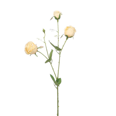 Precious Rose Spray - 67cm (Lemon)