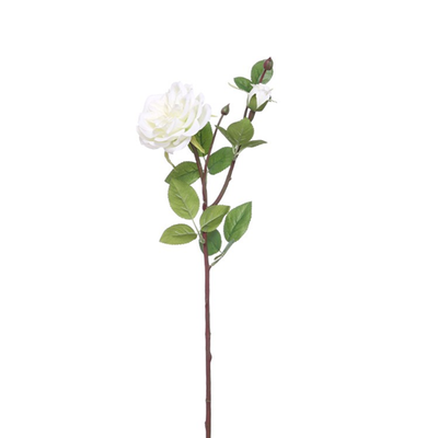 Garden Rose Spray - 62cm (Ivory)