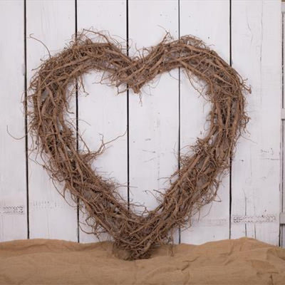 Large Root Heart Wreath - 90cm