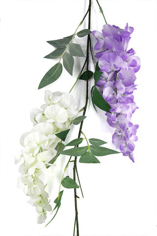 Luxury Trailing Wisteria Garland - 1.8m (Purple)
