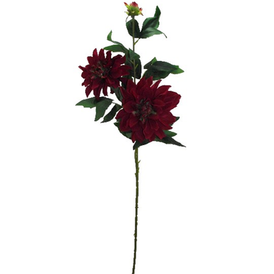 Giant Dhalia Spray - 90cm (Dark Red)
