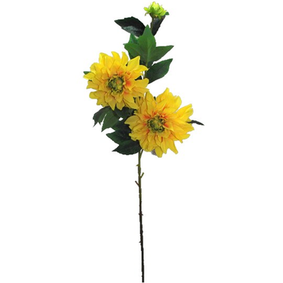 Giant Dhalia Spray - 90cm (Yellow)