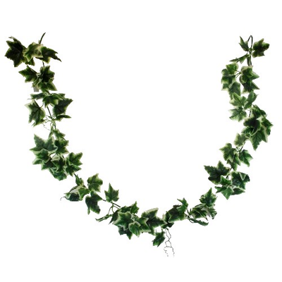 6ft Green Variegated Ivy Garland  (92 leaves)