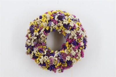 Dried Floral Door Wreath - 35cm