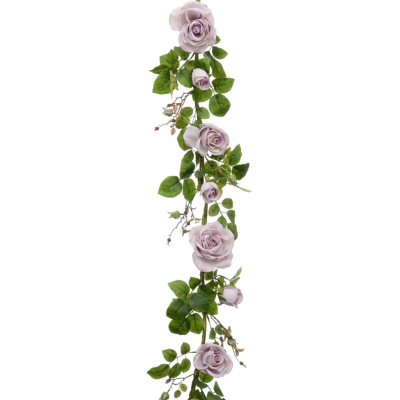 Plush Rose Garland - 6ft (Antique)