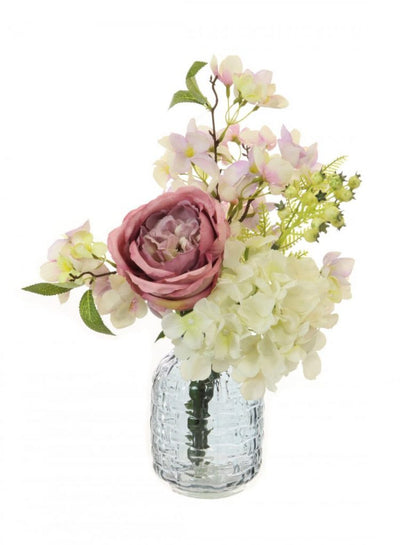 Rose Blossom Arrangement - 40cm (Blush/Cream)