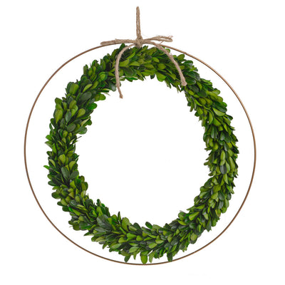 Boxwood Preserved Wreath - 35cm