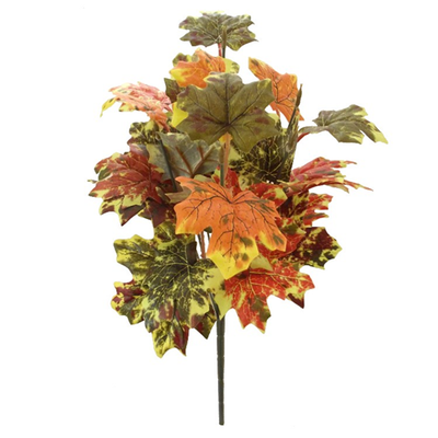 Autumn Ivy Bush - 42cm (Green/Brown/Orange)